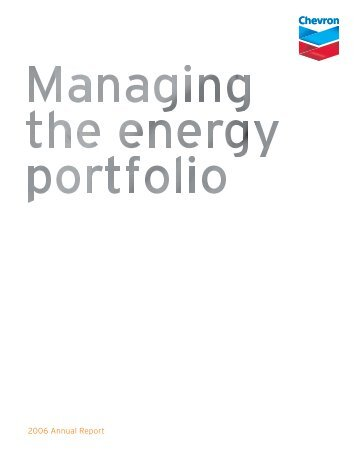 Chevron 2006 Annual Report