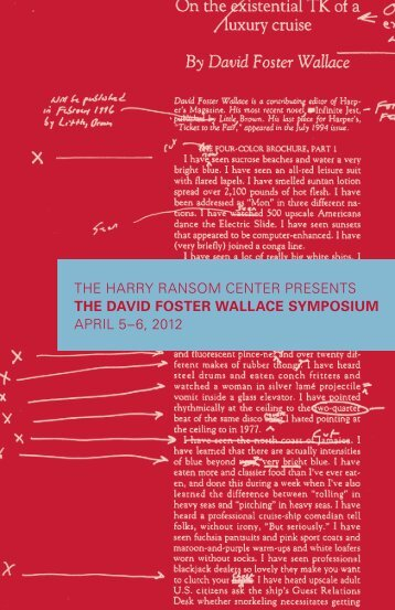 The lost years last days of david foster wallace rolling stone scan program for the david foster wallace symposium harry ransom fandeluxe Image collections