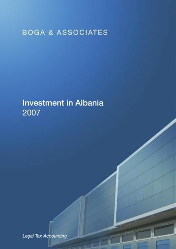 Investment in Albania 2007 - Boga & Associates, Homepage
