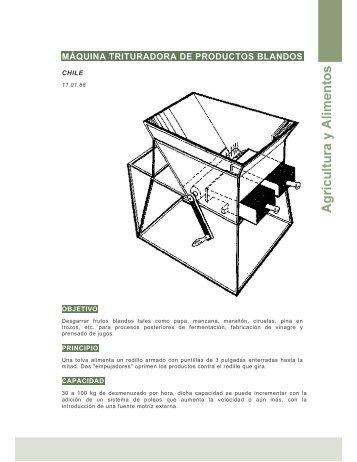 Máquina trituradora de productos blandos (Chile ) - Ideassonline.org