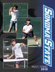 2010 Sonoma State Men's Tennis Media Guide