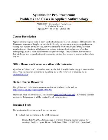 anthropological thought and praxis ii - unt anthropology, Powerpoint templates