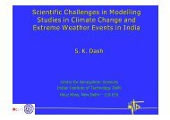 Scientific Challenges in Modelling Studies in Climate Change and ...