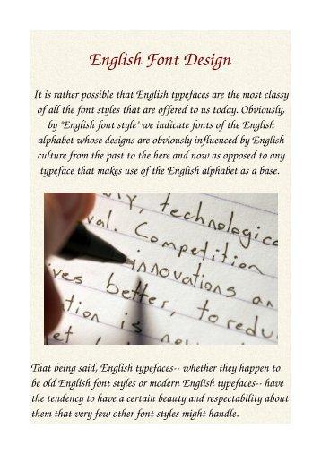 English Font Design