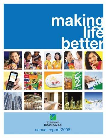 annual report 2008 - JG Summit News