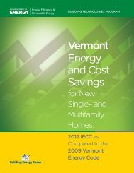 Vermont - Building Energy Codes