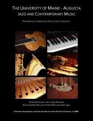 Jazz & Contemporary Music program brochure - University of Maine ...
