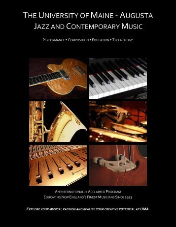Jazz & Contemporary Music program brochure - University of Maine ...