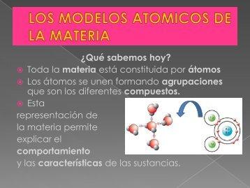 LOS MODELOS ATOMICOS DE LA MATERIA - Cosmofisica