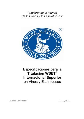 Titulación WSET ® Internacional Superior - Wine & Spirit Education ...
