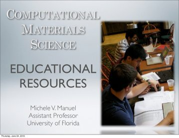 COMPUTATIONAL MATERIALS SCIENCE - Materials Research and ...
