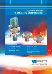 Valvole di zona ed attuatore elettrotermico - GPEX