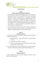 Regulamento Específico – Saúde I. Disposições ... - O Novo Norte