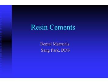 Resin Cements - MyCourses