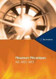 Mesureurs Mécaniques WE-WEC-WET - Itron
