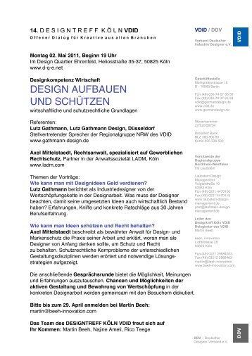 DESIGN AUFBAUEN UND SCHÜTZEN - gathmann.info