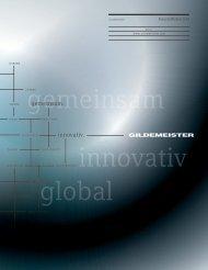 Geschäftsbericht 2012 - bei der GILDEMEISTER Aktiengesellschaft