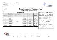 Entgeltverzeichnis Kurzzeitpflege - AWO Seniorenzentrum am ...