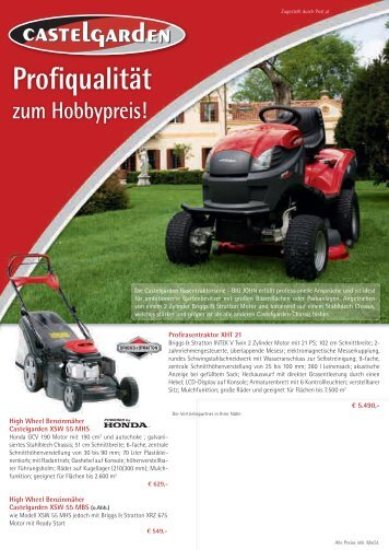Profiqualität - Garten- & Geräte-Spezi