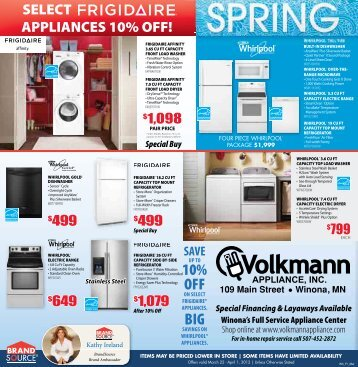 10% OFF BIG - Volkmann Appliance Inc.
