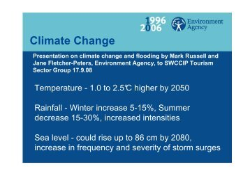 Climate Change - Our South West