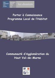 Porter à Connaissance Programme Local de l'Habitat ... - Driea