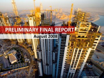 Preliminary Final Report Presentation (PDF - 1.5 MB) - Leighton ...