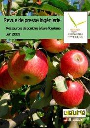 REVUE DE PRESSE INGENIERIE juin 2009 - Eure Tourisme