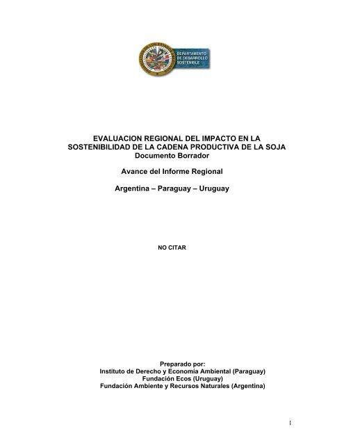 EVALUACION REGIONAL DEL IMPACTO EN LA SOSTENIBILIDAD ...