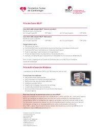 Liste des prix et Conditions Générales - HELP
