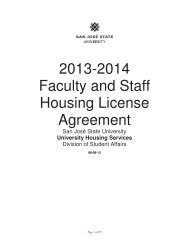 2013-2014 Faculty and Staff Housing License Agreement