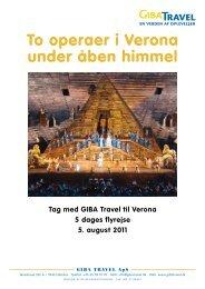 To operaer i Verona under åben himmel - GIBA Travel