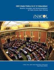 OER State Policy in K-12 Education: - iNACOL