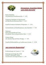 Vorspeisen, knackige Salate und vitale Gerichte ... - Gasthof Zauner