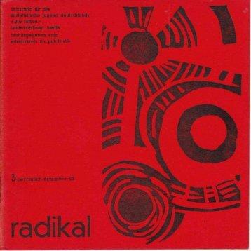 radikal 3 nov dez 1963