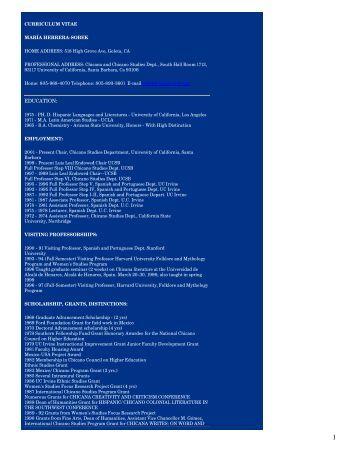 Link to Curriculum Vitae - UCLA Academic Senate