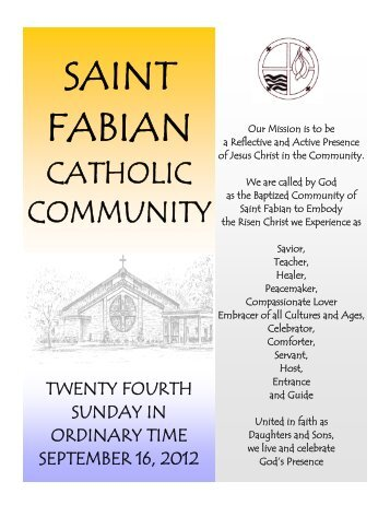 Pet Blessing - Saint Fabian Catholic Church