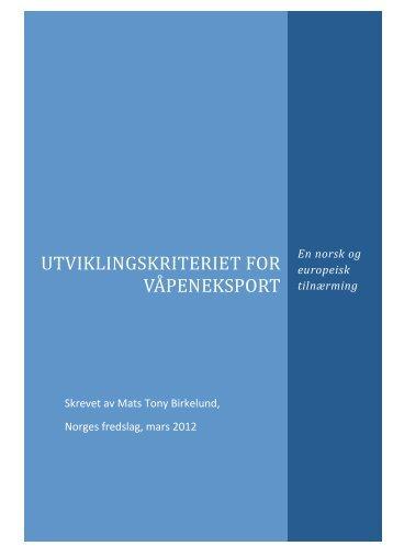 Rapporten som pdf. - Norges Fredslag