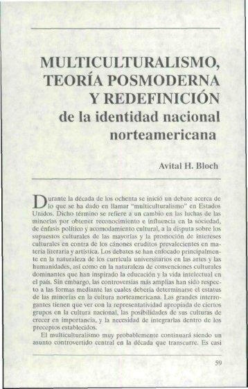 MULTICULTURALISMO, TEORIA POSMODERNA Y REDEFINICION ...