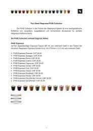 Fakten zu Nespresso-Sammlung (PDF) - GastroFacts
