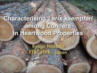 Characterising Larix kaempferi among Conifers in Heartwood ...