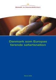 Danmark som Europas førende søfartsnation - Søfartsstyrelsen