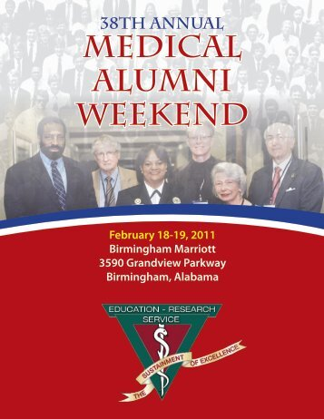 MEDICAL ALUMNI WEEKEND - Alabama Medical Alumni
