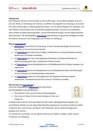 Anleitung für www.alle.de - Internet-Patinnen und -Paten