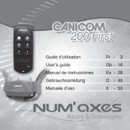 Guide d'utilisation Fr - 3 User's guide Gb - 16 Manual de ... - Num'Axes