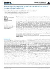 Auditory stimulus timing influences perceived ... - ResearchGate