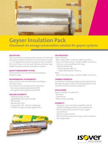 Geyser Insulation Pack - Isover