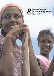 Oxfam Tsunami Accountability Report - Oxfam International