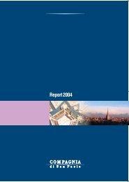 Annual report 2004 - Compagnia di San Paolo