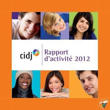 Rapport d'activité 2012 - Cidj